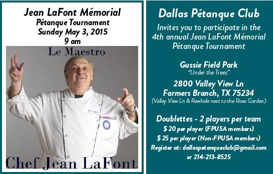 Jean Lafont Mémorial Pétanque tournament